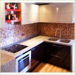 Мебель из камня - Столешница для кухонного гарнитура из камня GRANICOAT с монолитными мойками