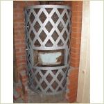 Кованая решетка на банную печь