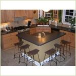 Мебель из камня - Столешница для кухонного гарнитура из камня GRANICOAT с монолитной мойкой
